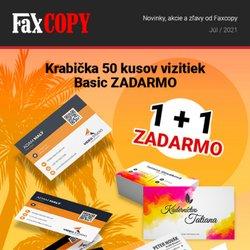 Elektronika akcie v katalógu Faxcopy ( Uverejnené včera)