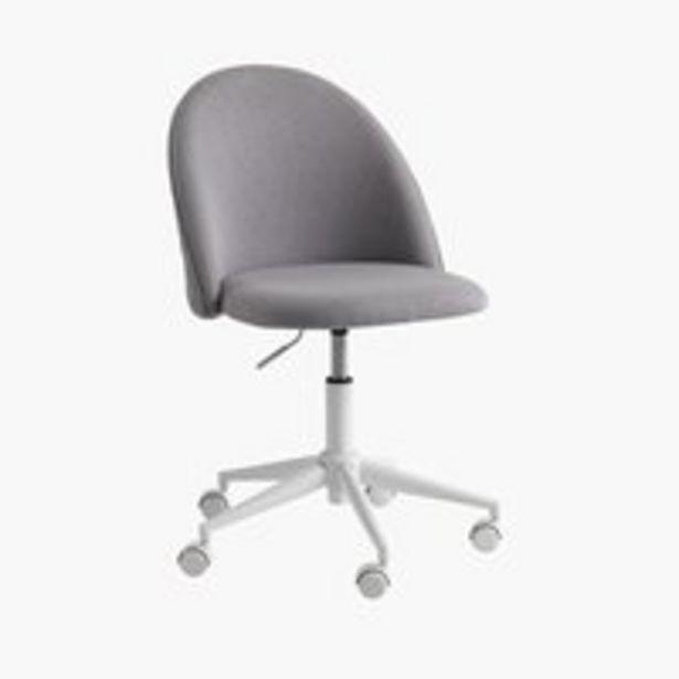 Kancelárske kreslo KOKKEDAL sivá/biela v akcii za 119€