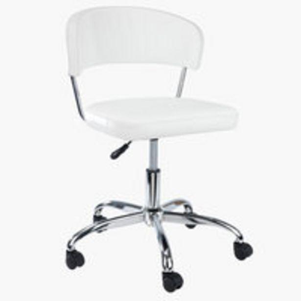 Kancelárske kreslo SNEDSTED biela v akcii za 99€