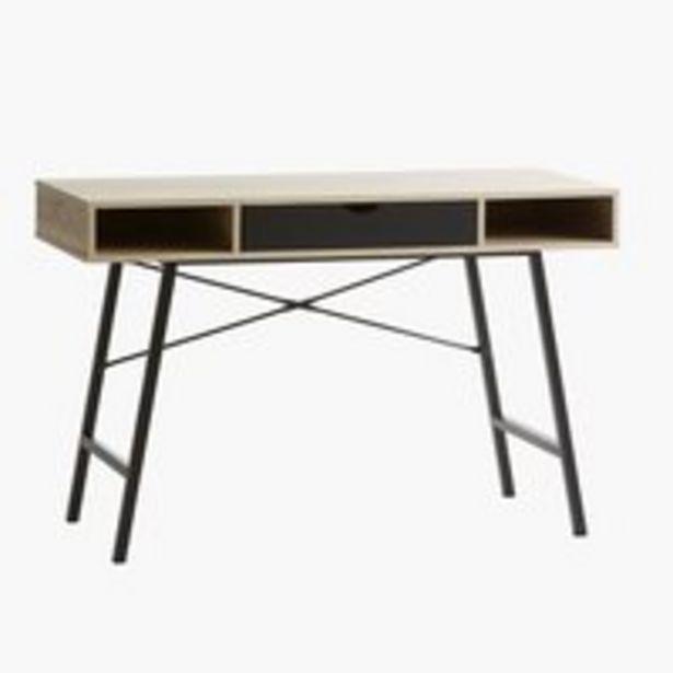 Písací stôl ABBETVED 48x120 dub/čierna v akcii za 109€