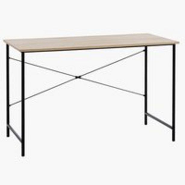 Písací stôl VANDBORG 60x120 dub/čierna v akcii za 69,99€