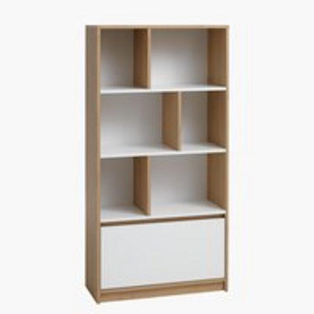 Knižnica BILLUND biela/dub v akcii za 139€