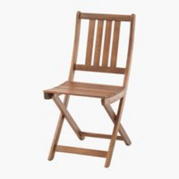 Skladacia stolička EGELUND tvrdé drevo v akcii za 34,99€