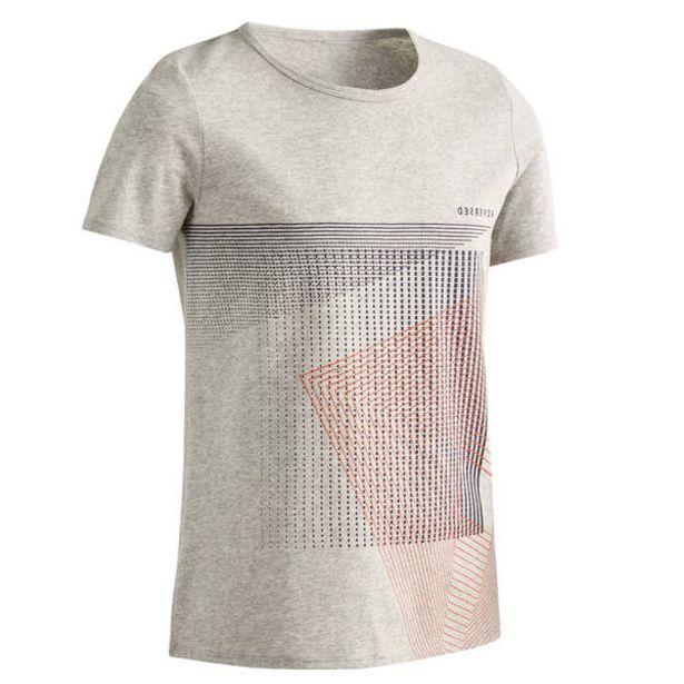 Chlapčenské tričko 100 na cvičenie sivé v akcii za 3,69€