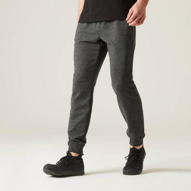 Pánske nohavice 500 na cvičenie sivé v akcii za 14,99€