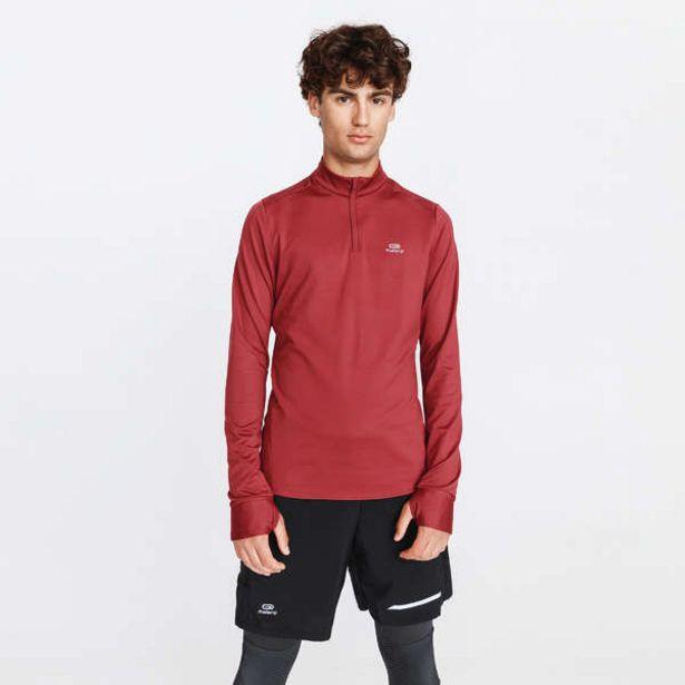 Pánske bežecké tričko s dlhým rukávom Run Warm bordové v akcii za 7,99€