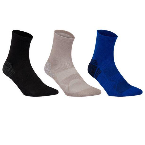 Polovysoké ponožky na športovú chôdzu čierne, sivé, modré 3 páry v akcii za 4,69€