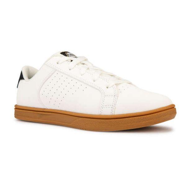 Detská skejtbordová obuv Crush 100 biela gumená v akcii za 13,99€