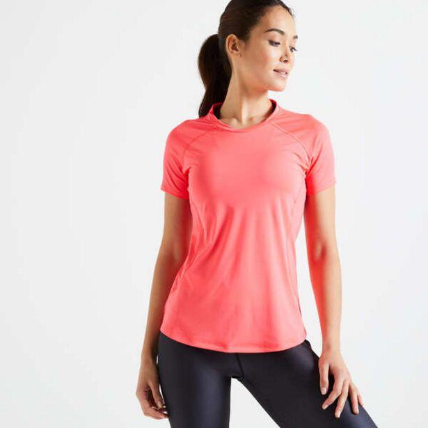 Tričko 500 na fitness zúžené v páse ružové v akcii za 9,49€