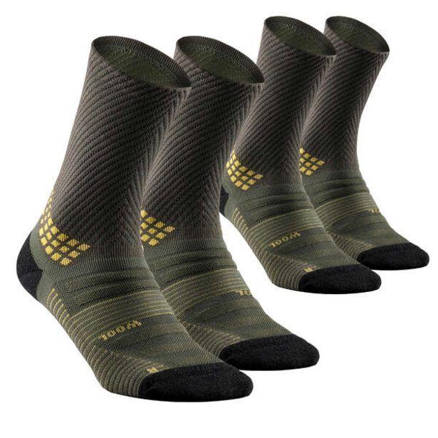 Turistické vysoké ponožky MH900 kaki 2 páry v akcii za 24,99€