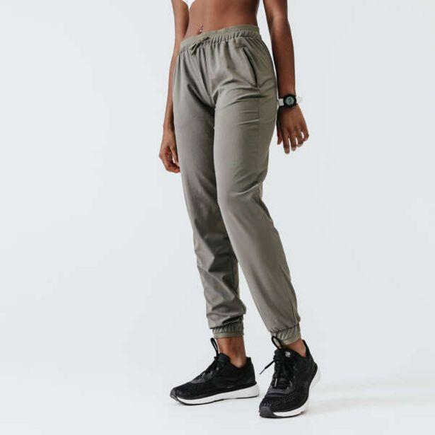 Dámske bežecké nohavice Run Dry popolavé kaki v akcii za 13,99€