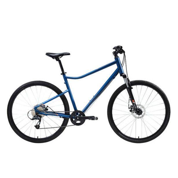 Trekingový bicykel RIVERSIDE 500 modro-oranžový v akcii za 279,99€