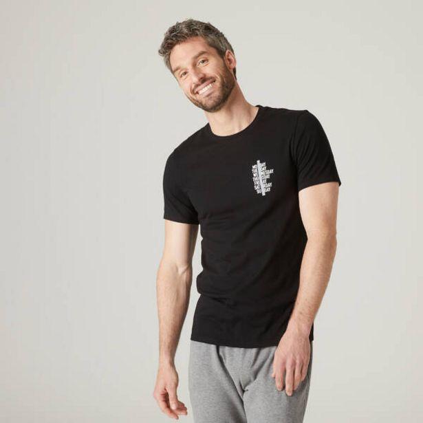 Pánske tričko 500 na cvičenie čierne v akcii za 6,49€