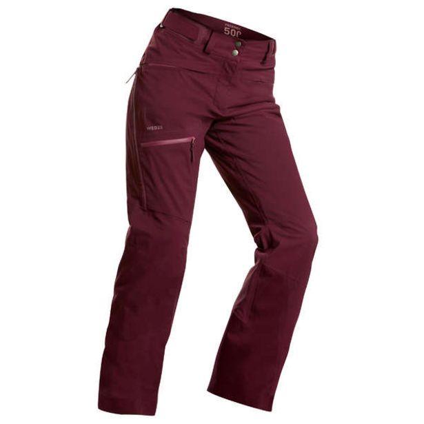 Dámske lyžiarske nohavice FR500 na freeride bordové v akcii za 59,99€