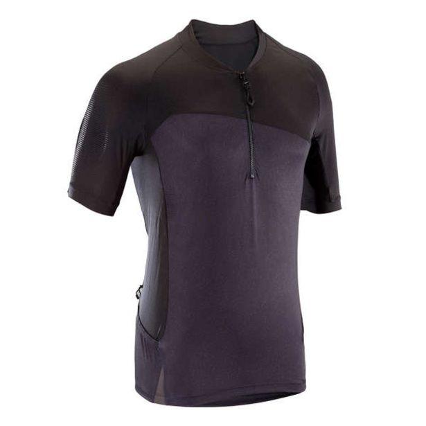 Pánsky cyklistický dres 500 s krátkym rukávom na MTB čierny v akcii za 16,99€