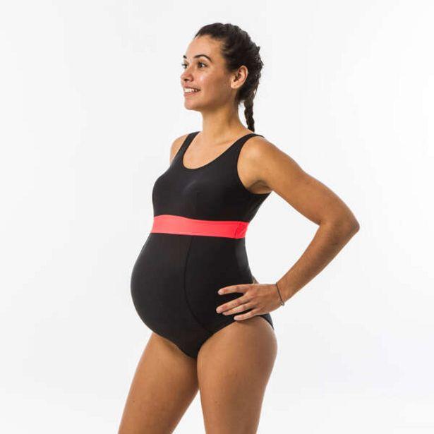 Dámske plavky Romane pre budúce mamičky jednodielne čierno-koralové v akcii za 13,99€