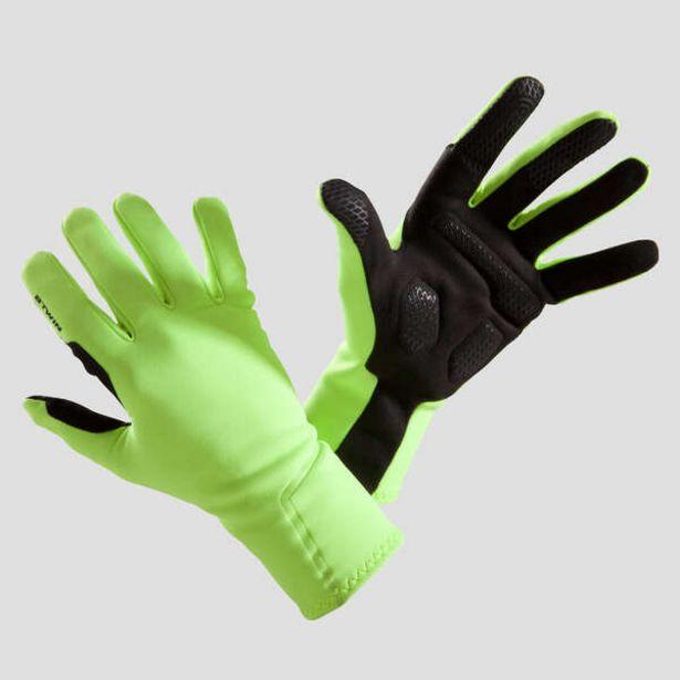 Cyklistické rukavice 500 medzisezónne žlté fluo v akcii za 11,99€