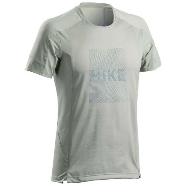 Pánske tričko s krátkym rukávom MH 500 na horskú turistiku modro-sivé v akcii za 8,49€
