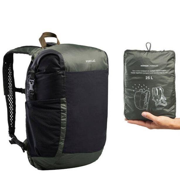 Skladný a nepremokavý cestovný batoh Travel 25 litrov kaki v akcii za 24,99€