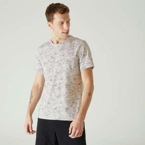 Pánske tričko 500 na cvičenie biele v akcii za 4,69€