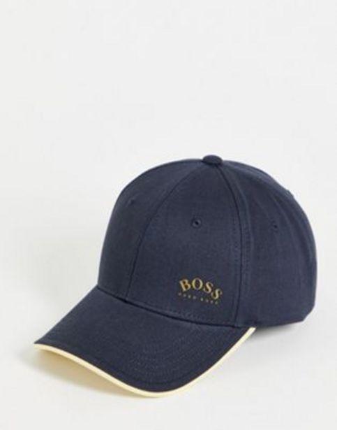 BOSS contrast logo baseball cap in navy/ gold v akcii za 35€