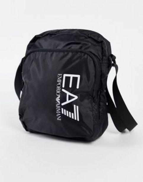 Armani EA7 large logo backpack in black v akcii za 45€