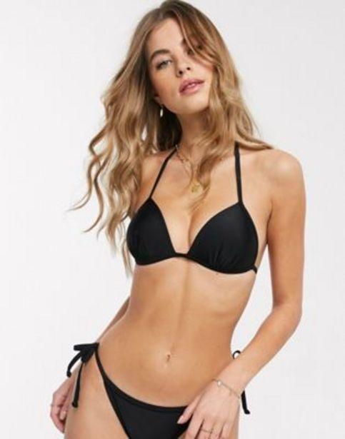 New Look moulded triangle bikini top in black v akcii za 3,95€