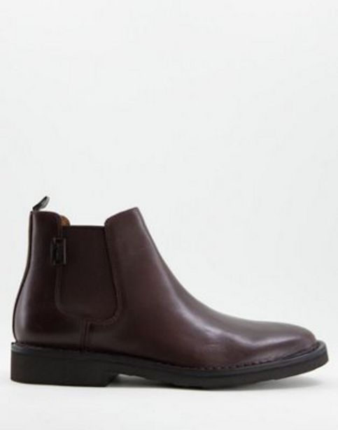Polo Ralph Lauren talan leather chelsea boot with pony logo in brown v akcii za 140€