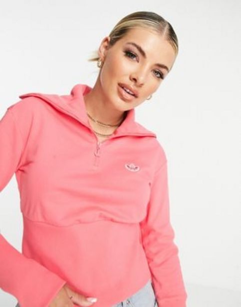 Adidas originals half zip sweatshirt in pink v akcii za 22€