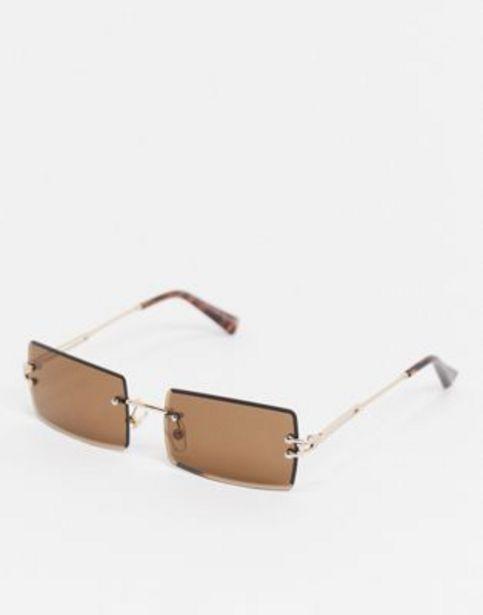 New Look rimless rectangle sunglasses in dark brown v akcii za 6,25€