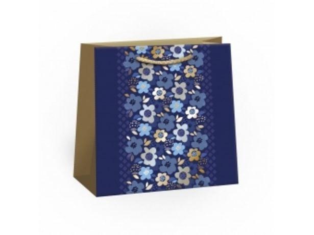 Argus taška darčeková celoročná Lux T2L (180x180x105mm), modré kvety v akcii za 0,972€