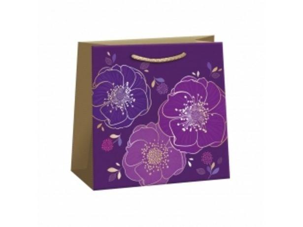 Argus taška darčeková celoročná Lux T2L (180x180x105mm), fialové kvety v akcii za 0,48804€