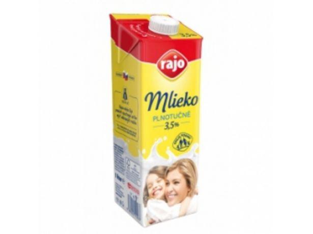 Rajo Trvanlivé mlieko plnotučné 1l v akcii za 2,12004€