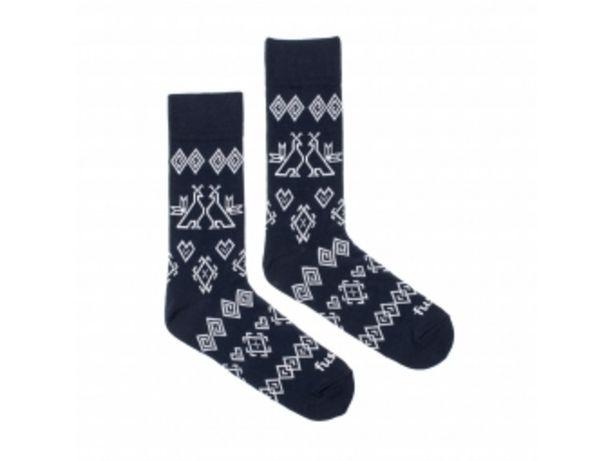 """Fusakle ponožky Modrotlač Čičmany """"L"""" (43-46) v akcii za 5,99004€"""