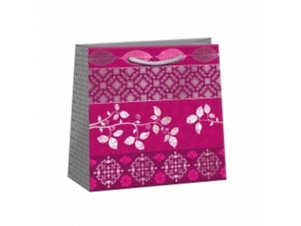 Argus taška darčeková celoročná Lux T2L (180x180x105mm), červené kvety v akcii za 1,82004€